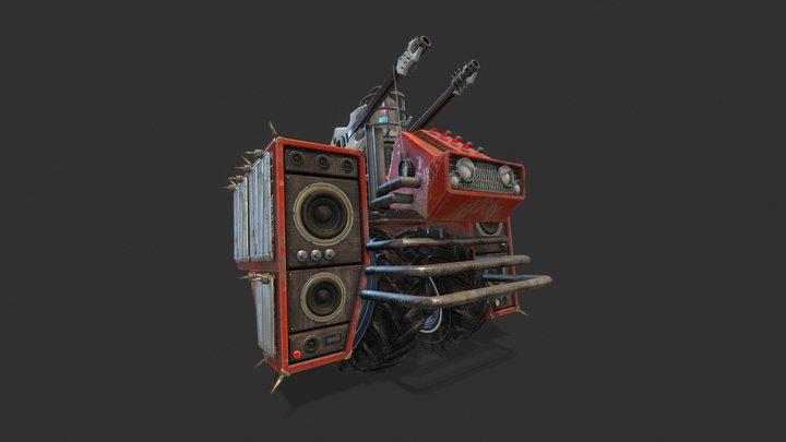Heavy Metal Ground Enemies 3D Model