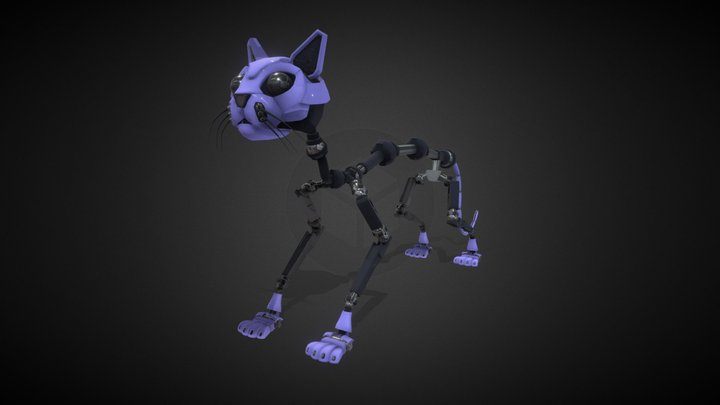 Robotic Cat 3D Model