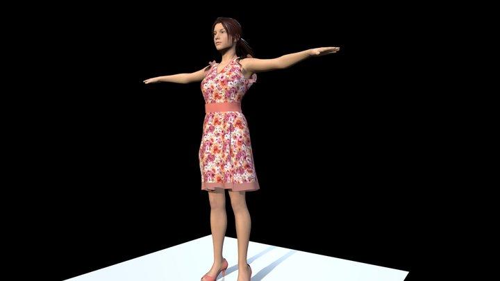 Woman in dress 3D Model