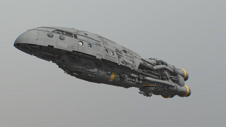 Rebel Mystery Gunship 3D Model