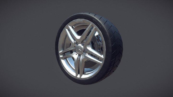 Mercedes AMG SL63 Wheel 3D Model