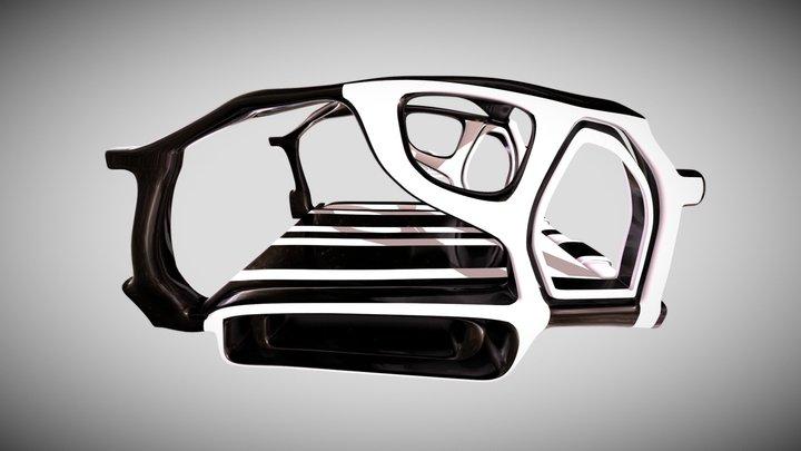 Organic sci-fi train 3D Model