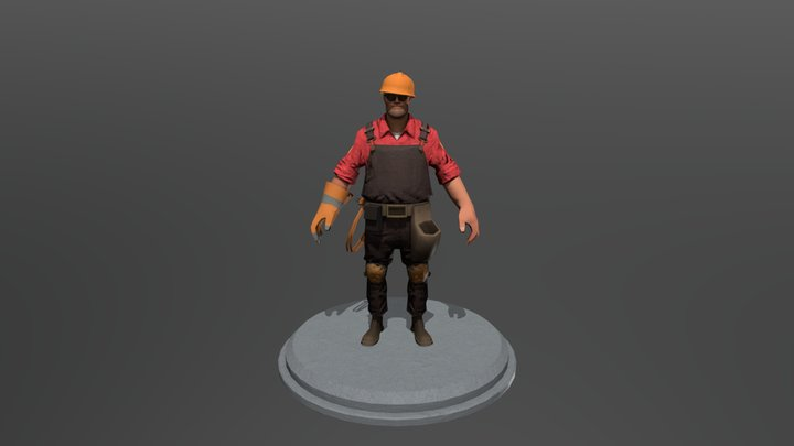 TF2 Engineer 3D Model