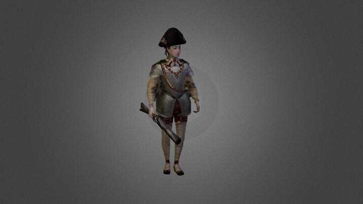Elizabethan Pirate Character (Final) 3D Model