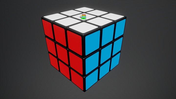 Rubik's Cube (Puzzle Cube) 3D Model