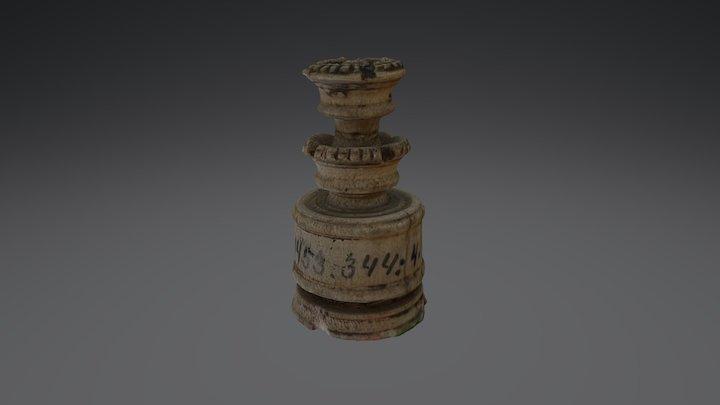 Chess piece 002 Historiska museet 3D Model