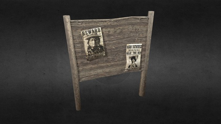 Wanted Table 3D Model