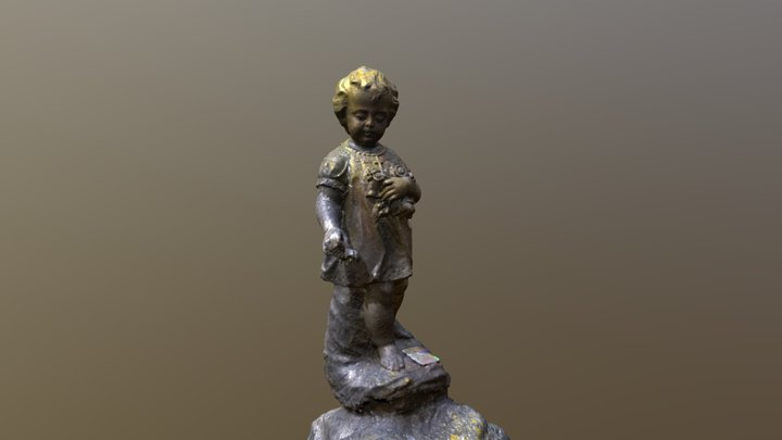 Second Cherub from Lyndhurst Cemetery 3D Model