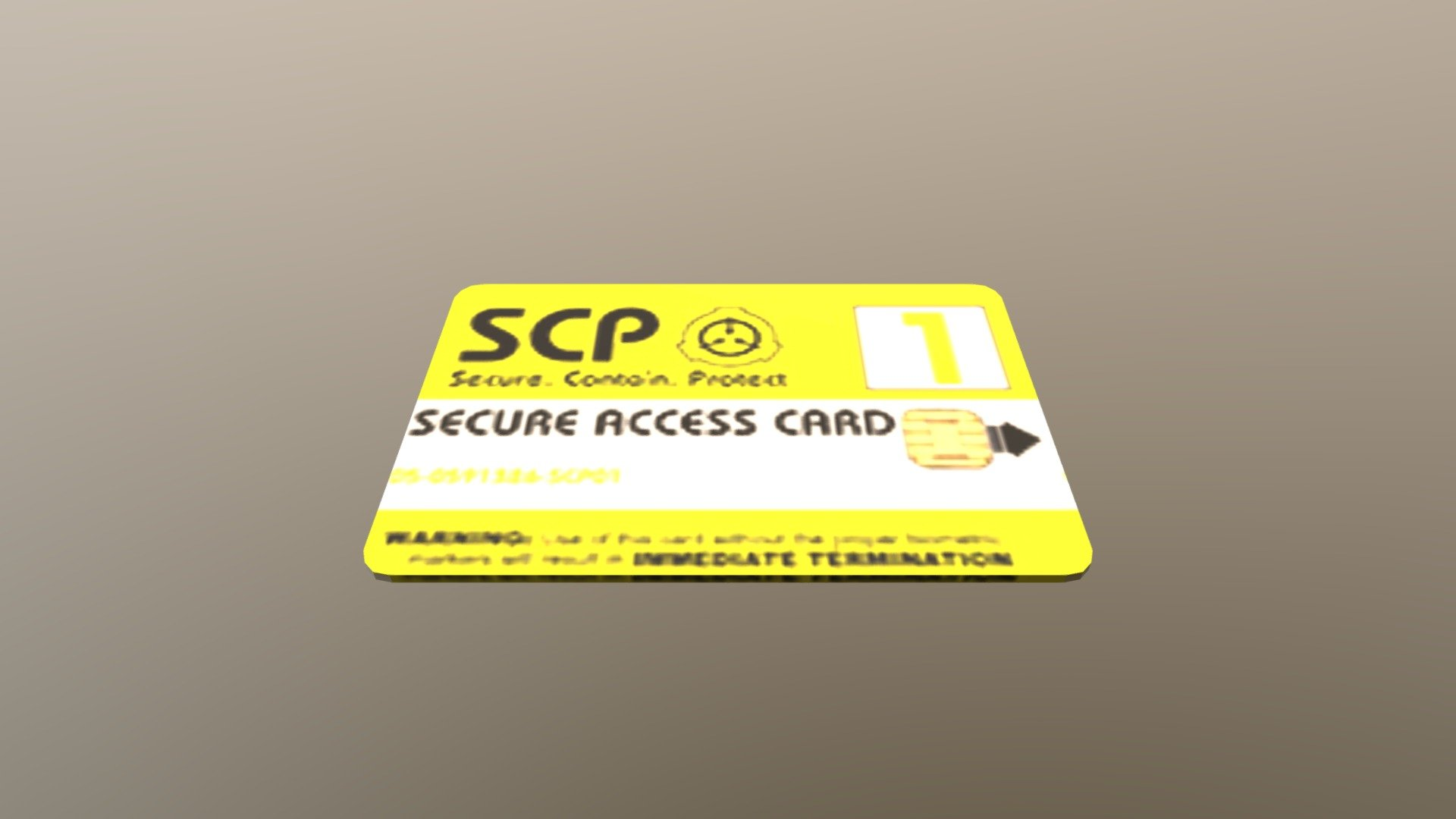 Military Vehicles For Sale >> SCP Key Card (Multi texture) - Download Free 3D model by Maxime66410 (@max66410) - Sketchfab