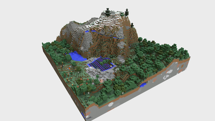 Cultural landscapes with Minecraft 02 3D Model