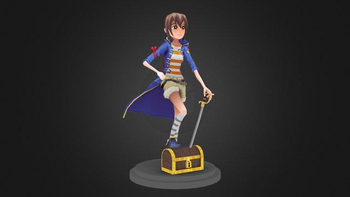 Pirate Girl 3D Model