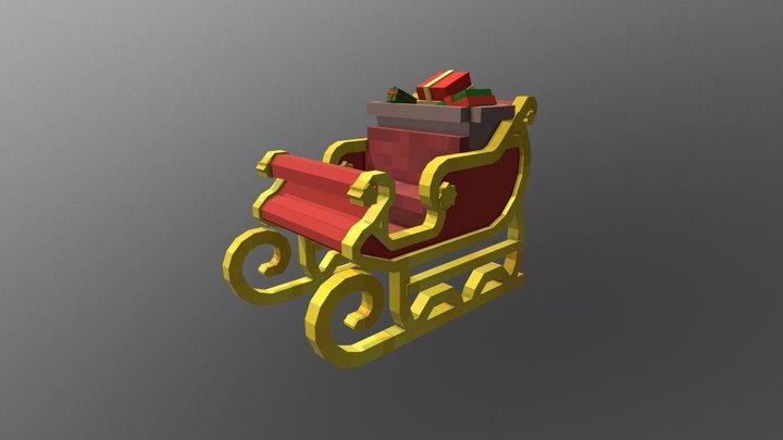 Santa's Sleigh (Minecraft model) 3D Model
