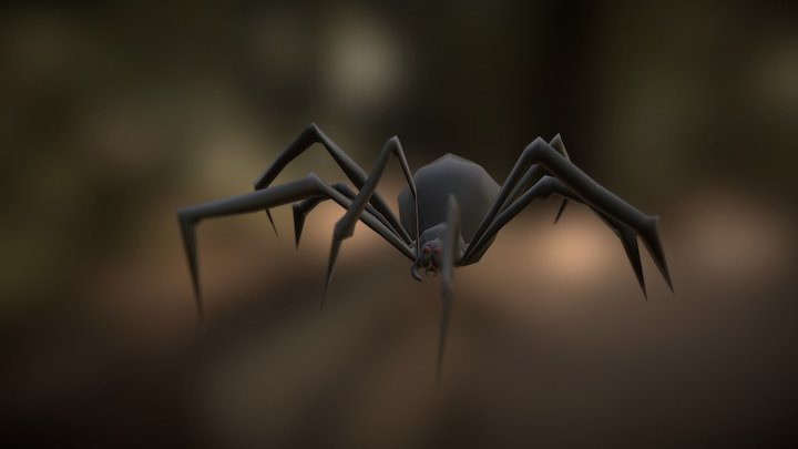 Giant Spider Walk Cycle Animation (WIP) 3D Model