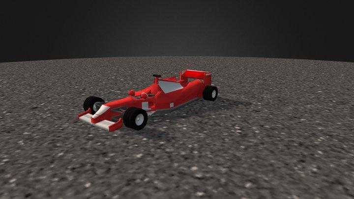 F1 Ferrari 3D Model