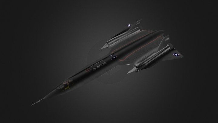 SR71 Blackbird 3D Model