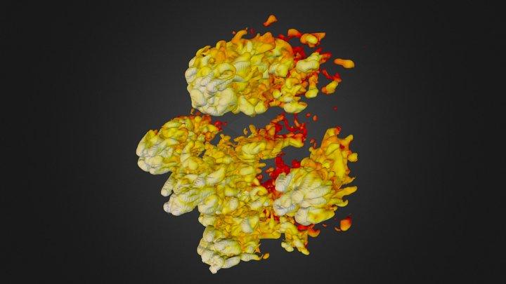 Cloud Crushing - 2.500000e-23 3D Model