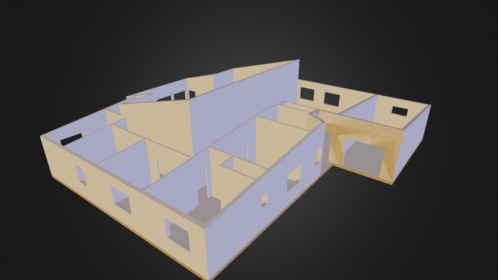 Modelisation maison Etienne (plan archi) 3D Model