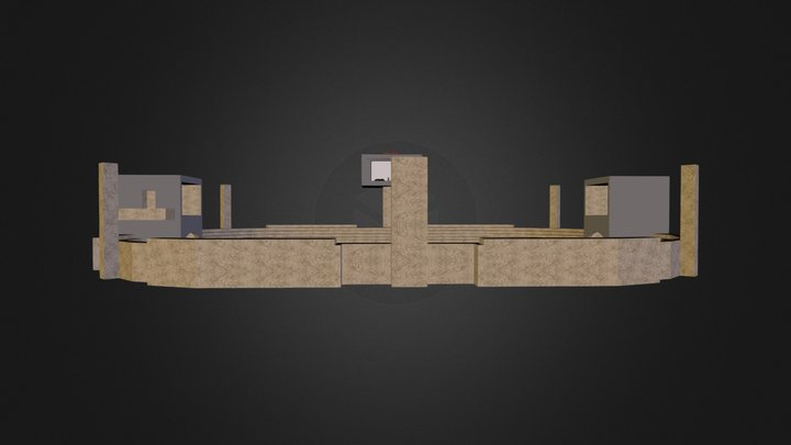 Dueling Arena 3D Model