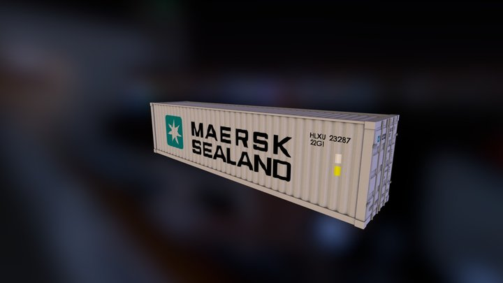 Maersk Container 3D Model