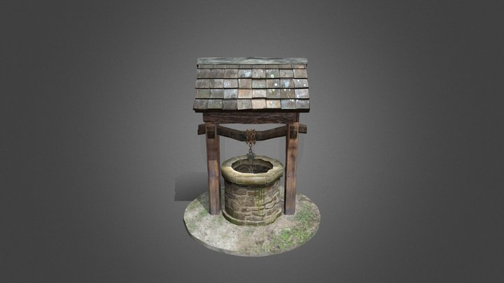 Finished Old Well 3D Model