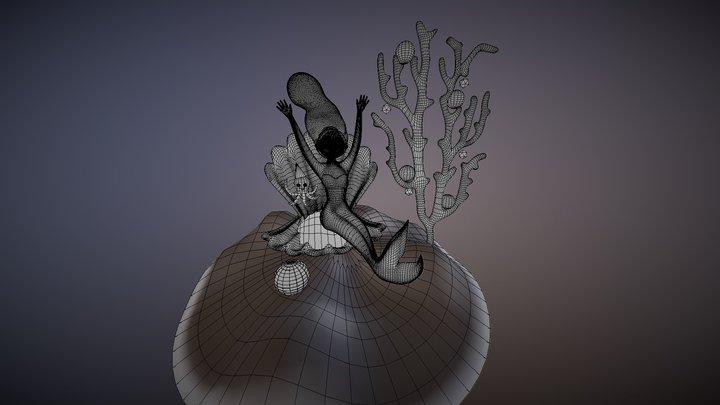 Mimi Mermaid 3D Model