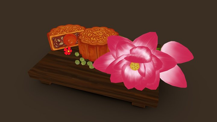 Mooncake in VietNam 3D Model