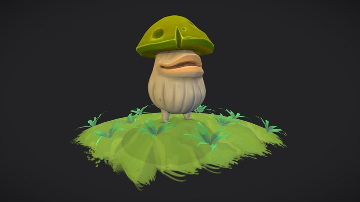 Mushroom Boy - Animated Enemy Model 3D Model