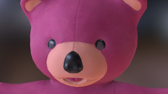 Ms. Teddy Pink 3D Model