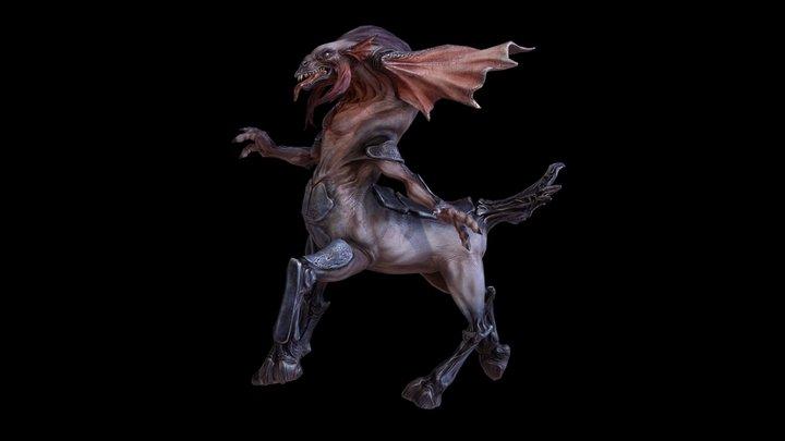 Centaur Dragon-Monster 3D Model