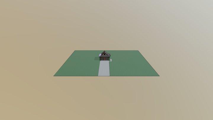 Rendering House Garage Test 3D Model