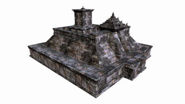 Candi Cetho perbaikan final 3D Model