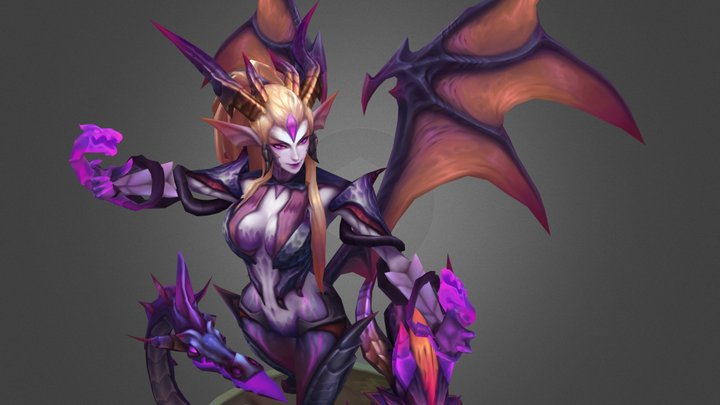 Dragon Sorceress Zyra 3D Model
