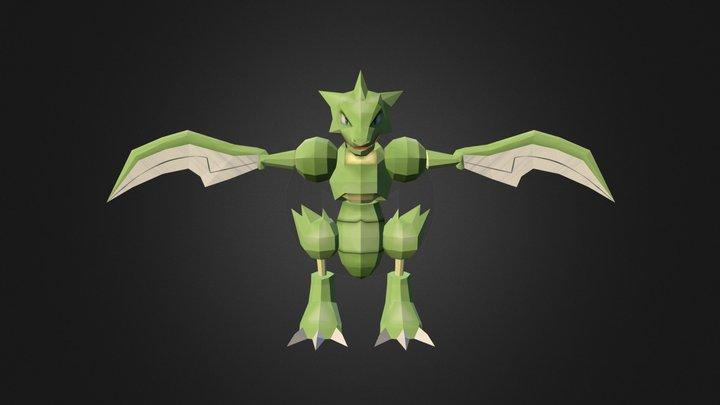 Scyther Remake (Pixelmon) 3D Model