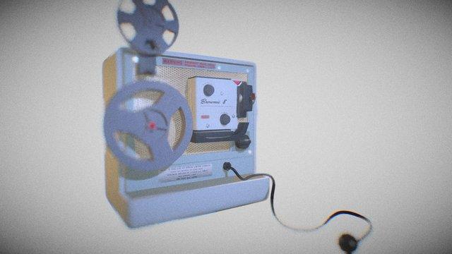 Kodak Brownie 8 Projector 3D Model