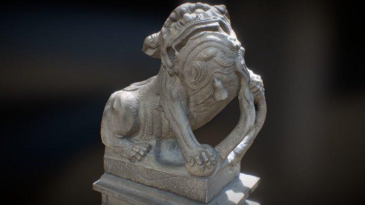 Lion- Statue-012M 士林慈諴宮 公獅 3D Model