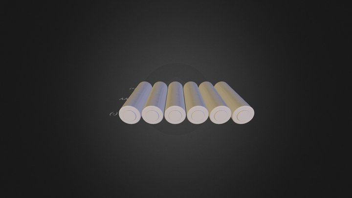AA Battery Pack 3D Model