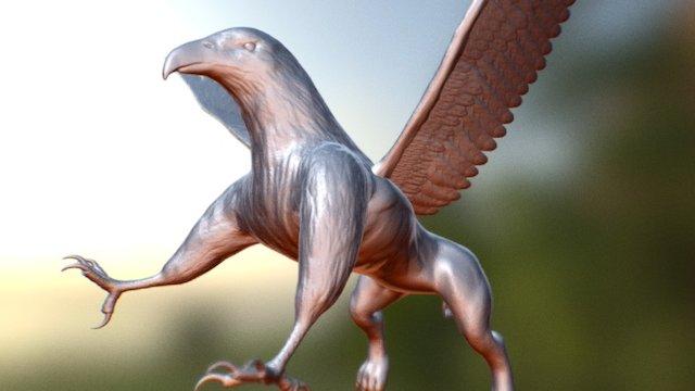 SculptJanuary#26 Griffin 3D Model