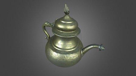 Scanned Brass Teapot 3D Model