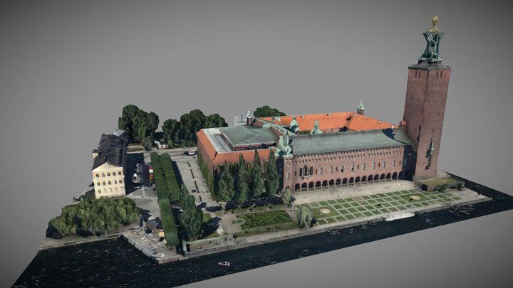 Stadshuset - hög detaljnivå 3D Model