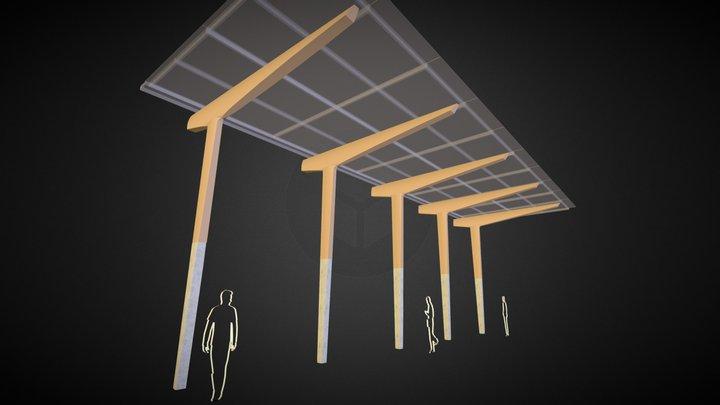 Cross Roads Canopy 3D Model