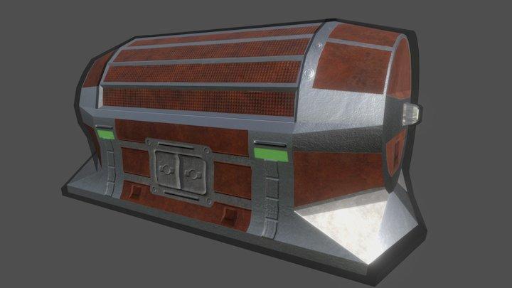 Borderlands Inspired Chest 3D Model