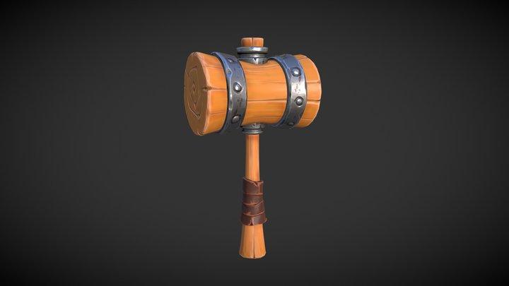 Stylized Mallet 3D Model