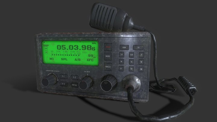 Post-Apocalyptic Ham Radio 3D Model