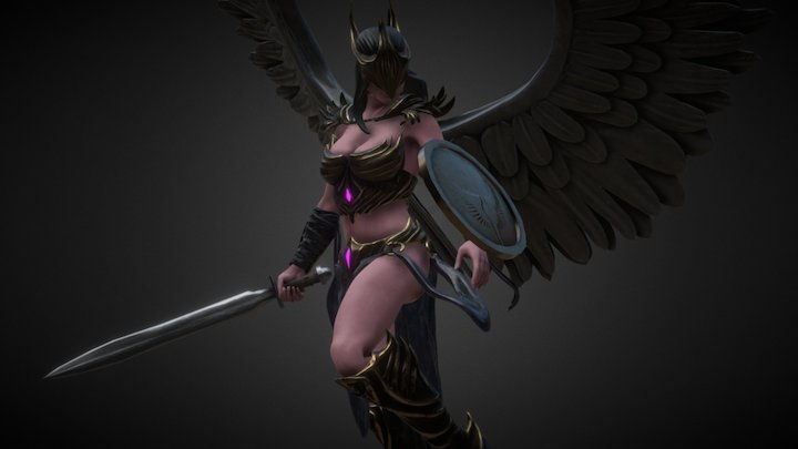 Dark Valkyrie 3D Model