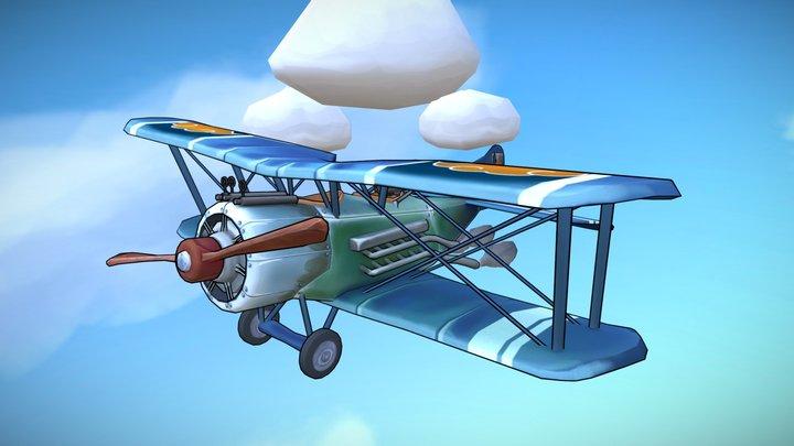 Stylized WW1 plane - Sopwith 1½ Strutter 3D Model