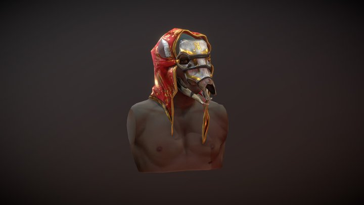 Year Of The Rat Mask 3D Model