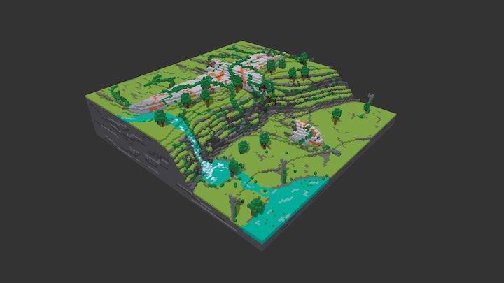Air plane crash 3D Model