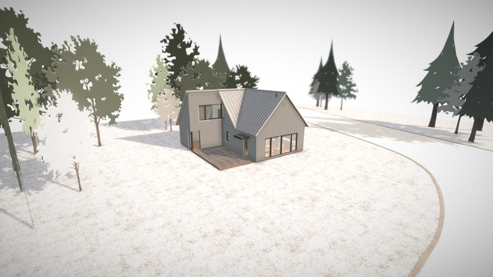 One-room Schoolhouse 3D Model