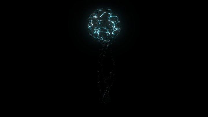 Alien Plant Floating Orb 3D Model