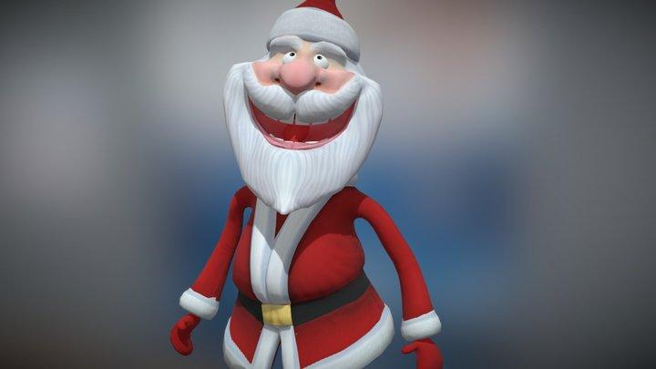 3DRT - Crazy Santa animated 3D Model